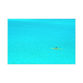 Outrigger canoe in Bora Bora canvas print