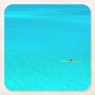 Outrigger canoe in Bora Bora coaster