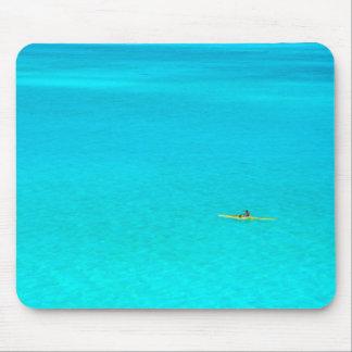 Outrigger canoe in Bora Bora mousepad