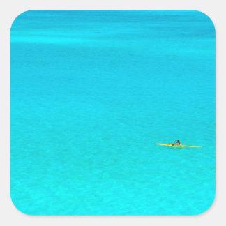 Outrigger canoe in Bora Bora sticker