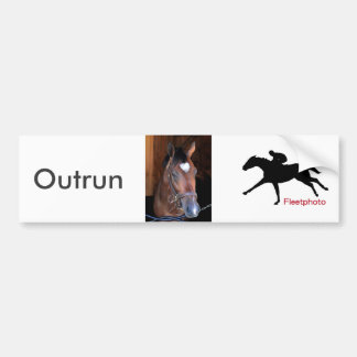 Outrun by Medaglia d'Oro - Indian Vale Bumper Sticker