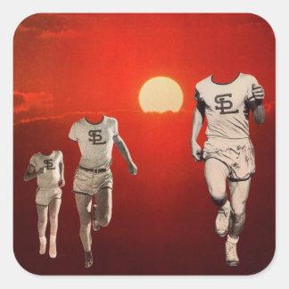 Outrun the Sun Square Sticker