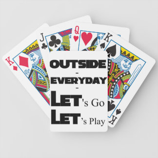Outside - Everyday - Let's Go - Let's Play Bicycle Playing Cards