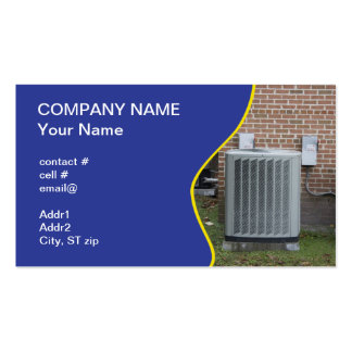 outside heat pump pack of standard business cards