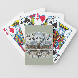 Outside life bicycle playing cards