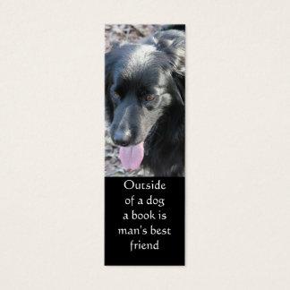 Outside of a dog bookmark mini business card