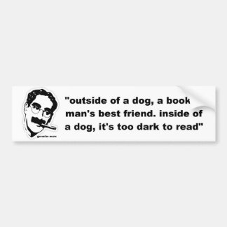 outside of a dog bumper sticker