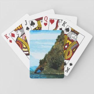 Outside the Bay of Seward Alaska Abstract Playing Cards