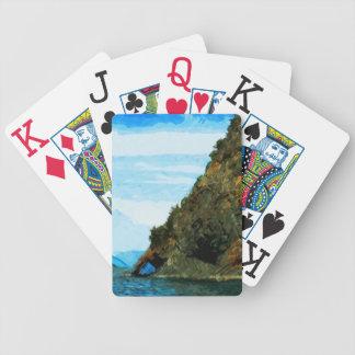 Outside the Bay of Seward Alaska Abstract Poker Deck