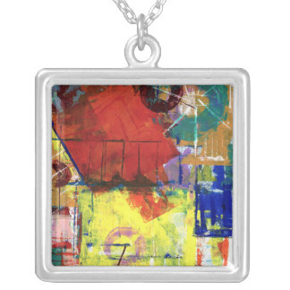 Outside the Box 2 Silver Plated Necklace