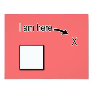 "Outside the Box 4.25"" X 5.5"" Invitation Card"