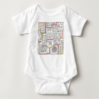 Outside The Box-Abstract Geometric Doodle Baby Bodysuit