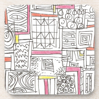 Outside The Box-Abstract Geometric Doodle Coaster