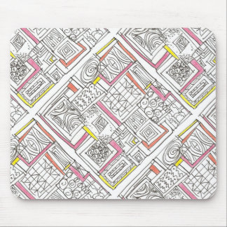 Outside The Box-Abstract Geometric Doodle Mouse Pad