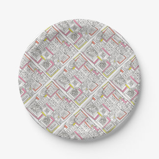 Outside The Box-Abstract Geometric Doodle Paper Plate