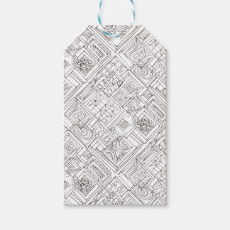 Outside The Box-Black and White Geometric Pattern Gift Tags