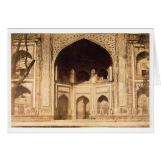 Outside the Taj Mahal, probably illustrated in 'Ph Card