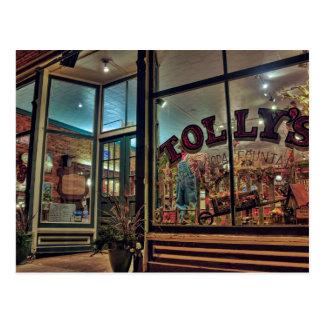 Outside Tolly's Soda Fountain Postcard