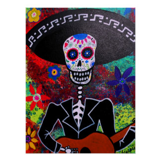 Outsider Day of the Dead Mariachi Poster