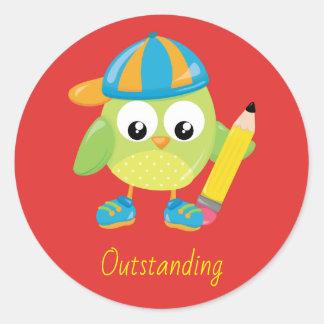 Outstanding Teacher Reward Classic Round Sticker