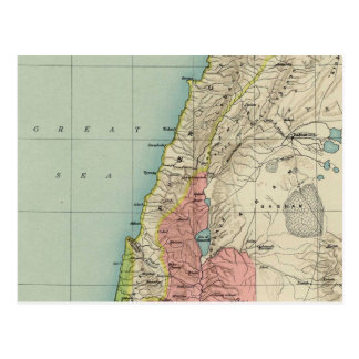Outstanding Vintage Map of Israel Postcard