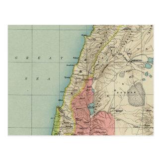 Outstanding Vintage Map of Israel Postcard
