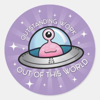 Outstanding Work Alien Sticker