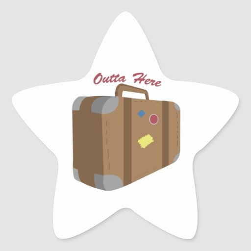 Outta Here Stickers