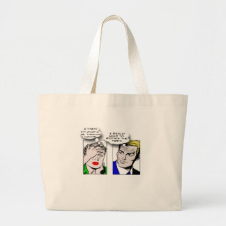 Outta Sync Humor Large Tote Bag