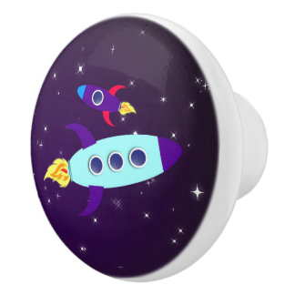Outta This World! Girl Ceramic Knob