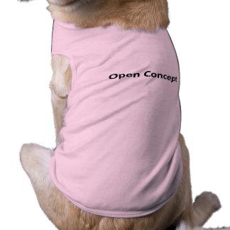 Ouvrez les chemises de chienchien de concept tee-shirt pour animal domestique