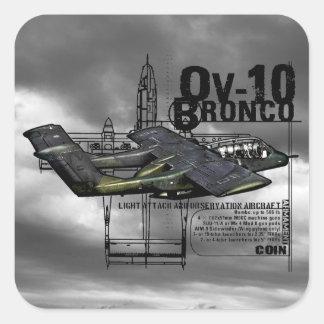 OV-10 Bronco Square Sticker