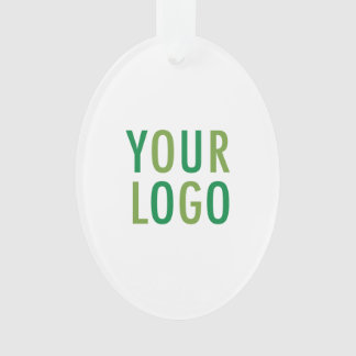 Oval Acrylic Ornament with Custom Logo Branding