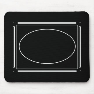 Oval and Bars Mousepad