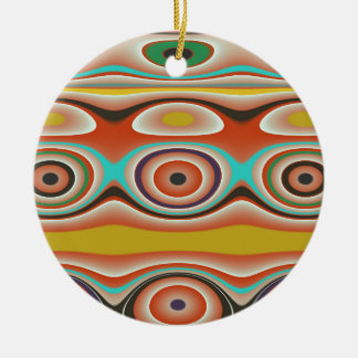 Oval and Circle Pattern Design in Southwestern Ceramic Ornament