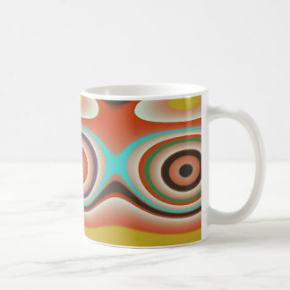 Oval and Circle Pattern Design in Southwestern Coffee Mug