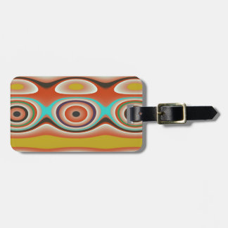 Oval and Circle Pattern Design in Southwestern Luggage Tag