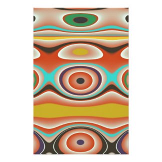 Oval and Circle Pattern Design in Southwestern Stationery