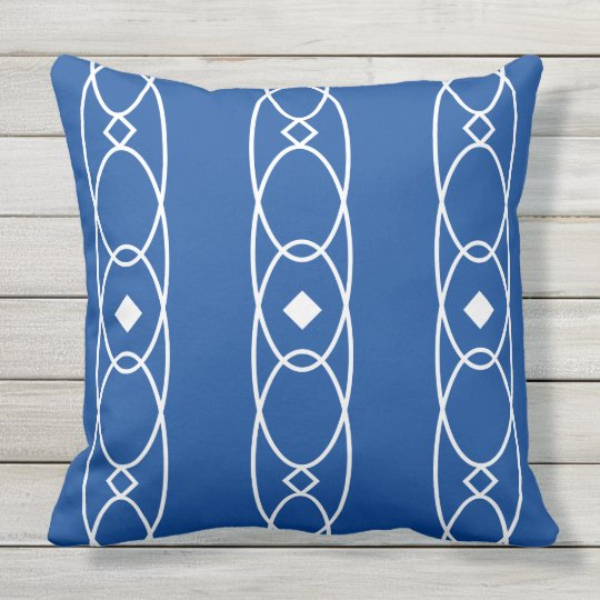 Oval and diamond patterned pillow