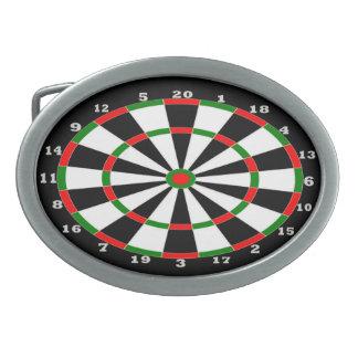 Oval Belt Buckle - Dartboard Design