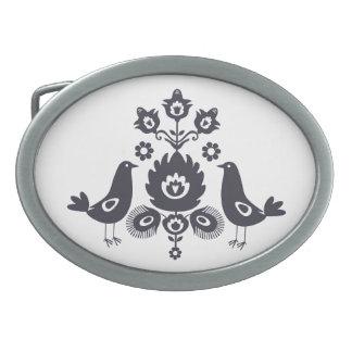 Oval Belt Buckle- folk Oval Belt Buckle