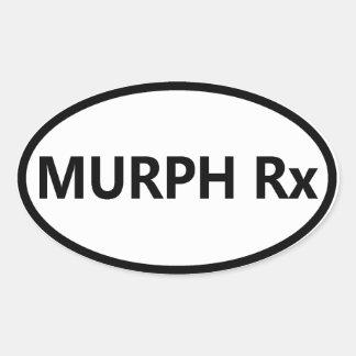 Oval Bumper Sticker - Murph