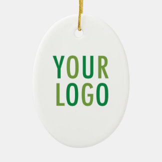 Oval Ceramic Ornament with Custom Logo Branding