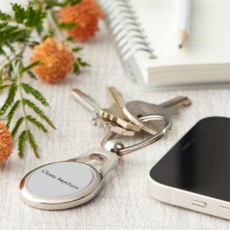Oval classy keychain
