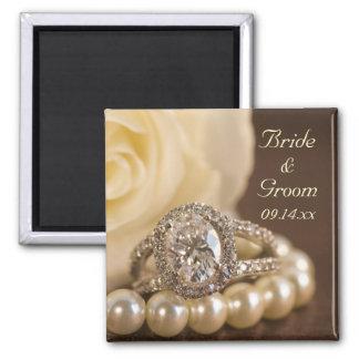 Oval Diamond Ring Wedding Magnet