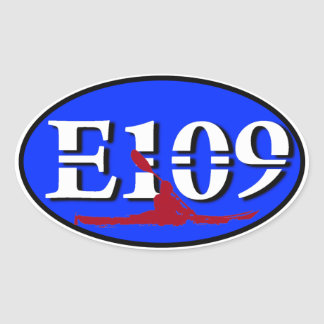 Oval E109 Euro Sticker