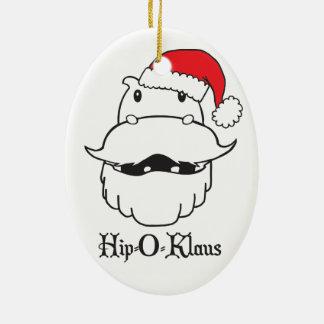 Oval Hip-O-Klaus Ornament