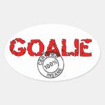 Oval Insane Goalie Sticker Sticker