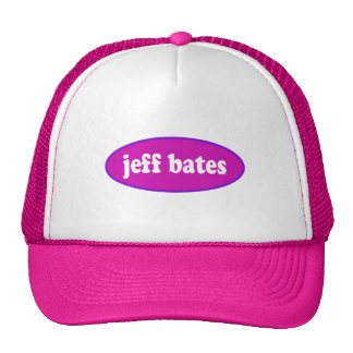 Oval Jeff Bates symbol Trucker Hat