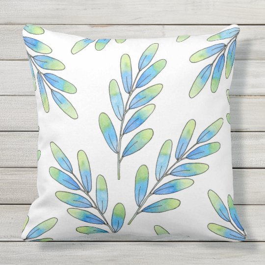 Oval Leaf Pattern Throw Pillow
